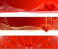 De dagbanners van de valentijnskaart Stock Foto's