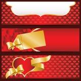De dagbanners van de valentijnskaart Stock Afbeelding