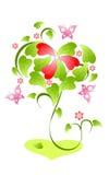 De dagboom van valentijnskaarten Stock Illustratie