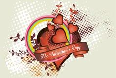 De dagconcept van de valentijnskaart   royalty-vrije illustratie