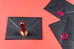 De dagconcept van heilige Valentine ` s De Zegel van de hartwas royalty-vrije stock foto