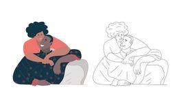 De dagconcept van Valentine een paar in liefde, vectorafbeeldingen, illustratie - Beelden vectorielles - Beelden vectorielles vector illustratie