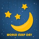 De dagconcept van de wereldslaap Goede nacht Ster en maan royalty-vrije stock foto