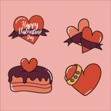 De Dagelementen van gelukkig Valentine voor uw ontwerp Vector royalty-vrije illustratie