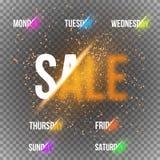De Dagen van de kalenderweek met Transparante Vector Speciaal stock illustratie