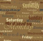 De dagen van de week Stock Foto