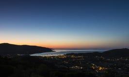 De dageraad op het eiland van Elba Stock Afbeeldingen