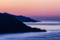 De dageraad op het eiland van Elba (Toscanië, Italië) Stock Foto's