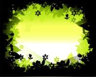 De dageraad van de ochtend, aardframe silhouet vector illustratie