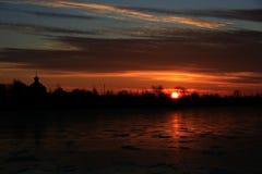 De dageraad van de winter stock afbeelding
