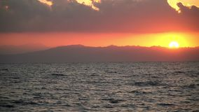 De dageraad van Egypte op het Rode overzees stock video