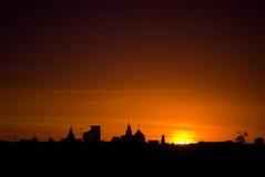 De dageraad van Moskou Royalty-vrije Stock Afbeeldingen