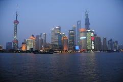 De dageraad van Shanghai Stock Foto