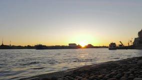 De dageraad van St. Petersburg stock videobeelden