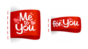 De dagetiketten van de valentijnskaart voor giften. Royalty-vrije Stock Afbeelding