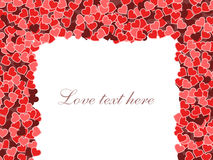 De dagframe van de valentijnskaart Royalty-vrije Stock Foto