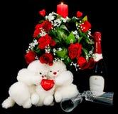 De daggiften en decoratie van de valentijnskaart Stock Foto's