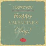 De Daghand van gelukkig Valentine het Van letters voorzien - Typografische Achtergrond Royalty-vrije Stock Foto