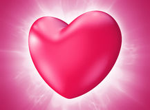De Daghart die van mooi roze Valentine met hartstocht barsten Stock Foto's