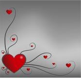 De daghart van de valentijnskaart Royalty-vrije Stock Afbeelding