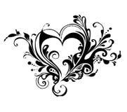 De daghart van de valentijnskaart Stock Afbeelding