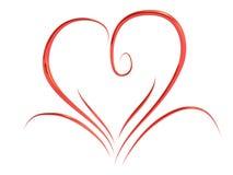 De daghart van de valentijnskaart Royalty-vrije Stock Foto's
