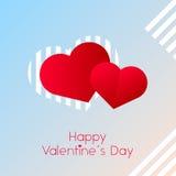De dagharten van de valentijnskaart `s Royalty-vrije Stock Afbeelding