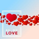 De dagharten van de valentijnskaart `s Stock Foto