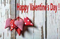De dagharten van de valentijnskaart `s 14 van Februari valentines Royalty-vrije Stock Afbeelding