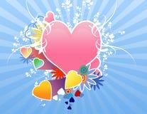 De dagharten van valentijnskaarten Royalty-vrije Stock Afbeeldingen