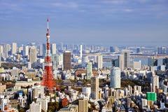De Daghorizon van Tokyo stock afbeelding