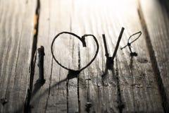 De dagidee van LIEFDE Gelukkig Valentijnskaarten, huwelijksuitnodiging of groetkaart Stock Foto