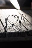 De dagidee van LIEFDE Gelukkig Valentijnskaarten, huwelijksuitnodiging of groetkaart Royalty-vrije Stock Afbeeldingen