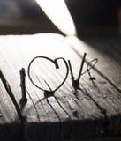 De dagidee van LIEFDE Gelukkig Valentijnskaarten, huwelijksuitnodiging of groetkaart Royalty-vrije Stock Afbeelding