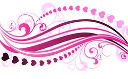 De dagillustratie van de vectorValentijnskaart Stock Fotografie