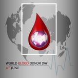 De dagillustratie van de wereldbloedgever Stock Afbeeldingen