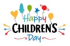 De dagillustratie van gelukkige kinderen royalty-vrije stock foto's