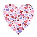 De dagillustratie van de valentijnskaart `s Waterverfhand getrokken illustratie vector illustratie