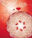 De dagillustratie van valentijnskaarten Royalty-vrije Stock Foto's