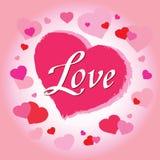 De dagillustratie van Valentine met hart Vector Stock Foto