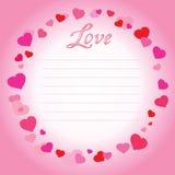 De dagillustratie van Valentine met hart Vector Stock Afbeelding