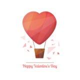 De Dagillustratie van Valentine in moderne geometrisch ontwerpstijl Stock Foto's