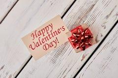 De Dagkaart en gift van Valentine ` s Stock Afbeeldingen