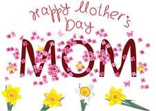 De dagkaart van de gelukkige moeder Royalty-vrije Illustratie