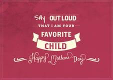 De dagkaart van de gelukkige moeder Royalty-vrije Stock Foto