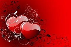 De dagkaart van de gelukkige Valentijnskaart. Stock Afbeelding