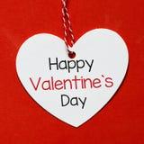 De dagkaart van de gelukkige valentijnskaart Stock Foto's