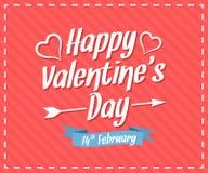 De dagkaart van de gelukkige valentijnskaart Stock Afbeelding