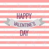 De dagkaart van de gelukkige valentijnskaart Royalty-vrije Stock Fotografie