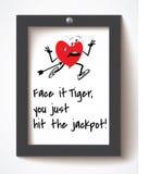 De dagkaart van de grappige valentijnskaart Royalty-vrije Stock Fotografie